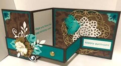 Turquoise and Cheetah Print Card