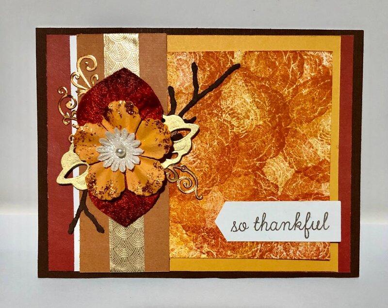 Autumn Thankful Card