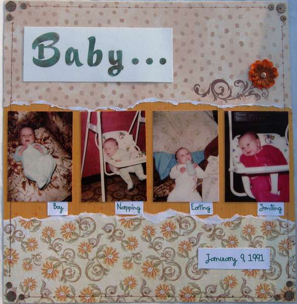 Baby pictures for nephew's album