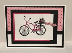 Pink Bicycle HB Card