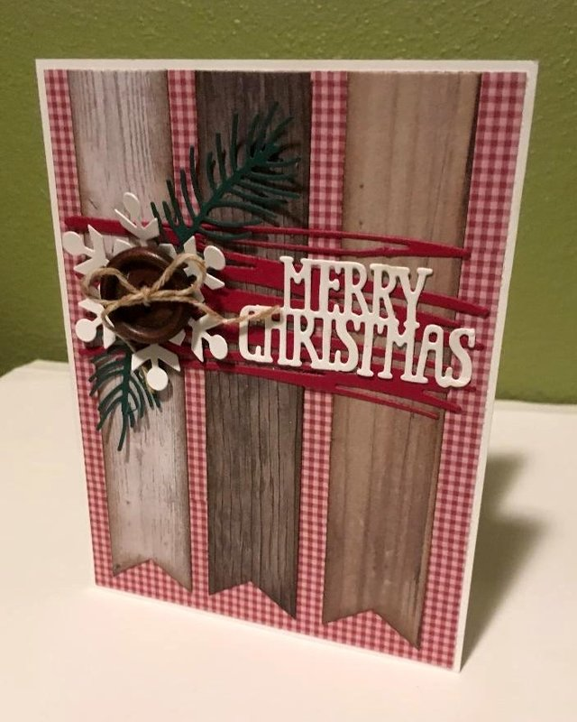 Wooden Banner Christmas Card