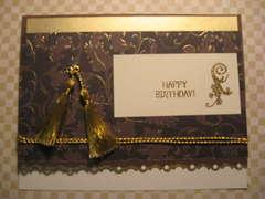 Happy Birthday Brown Card - NSBD challenge