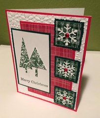 Three Square and Trees Christmas Card