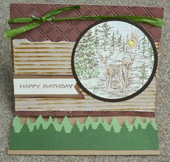 Happy Birthday with Deer Easel Fold Card