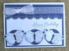 Blue Butterfly Lift Card
