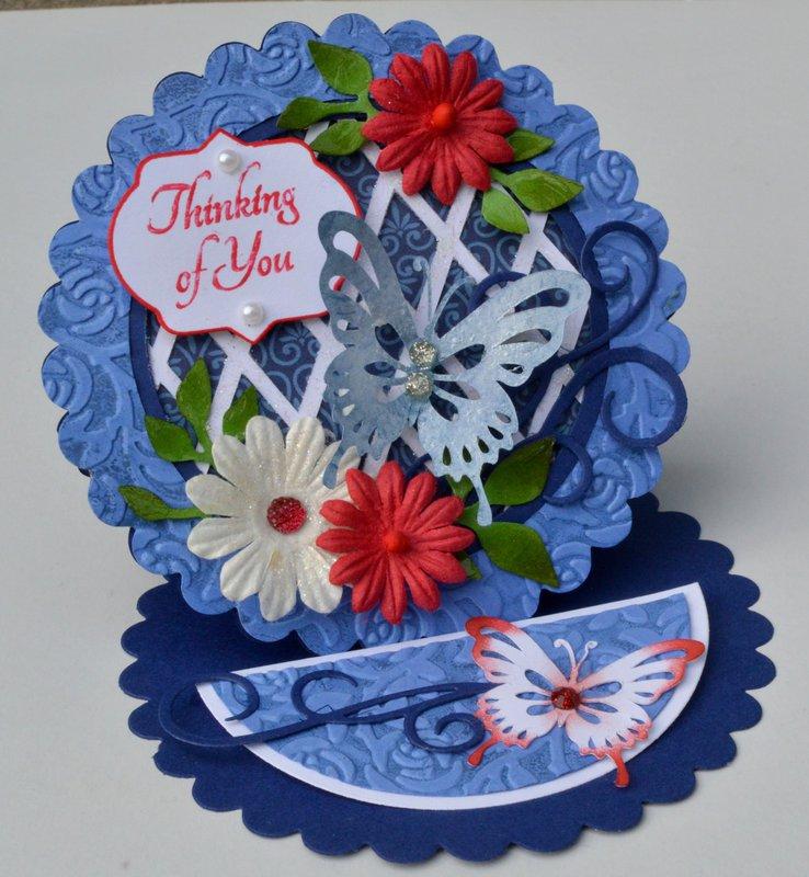 Blue Easel Fold Card