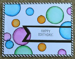 Stripes and Dots Birthday Card