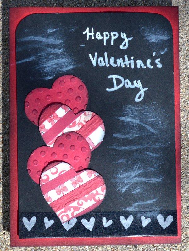 Chalkboard Type Heart Card