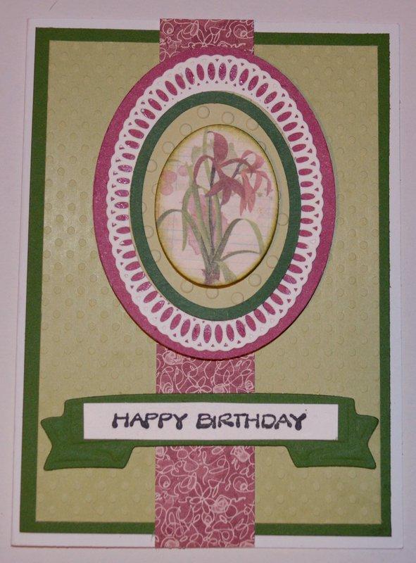 Oval Happy Birthday Botanical Card
