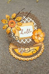 Yellow Hello Easel Card