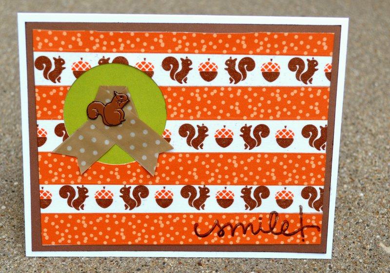 Washi Squirrel Card