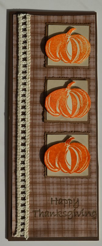 Narrow Three Pumpkin Card