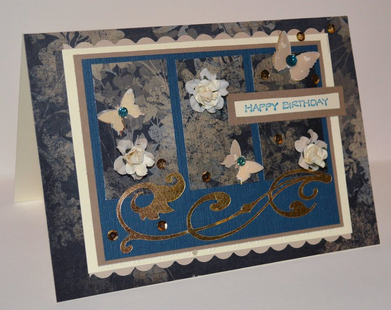 Teal and Black 3 Panel Card