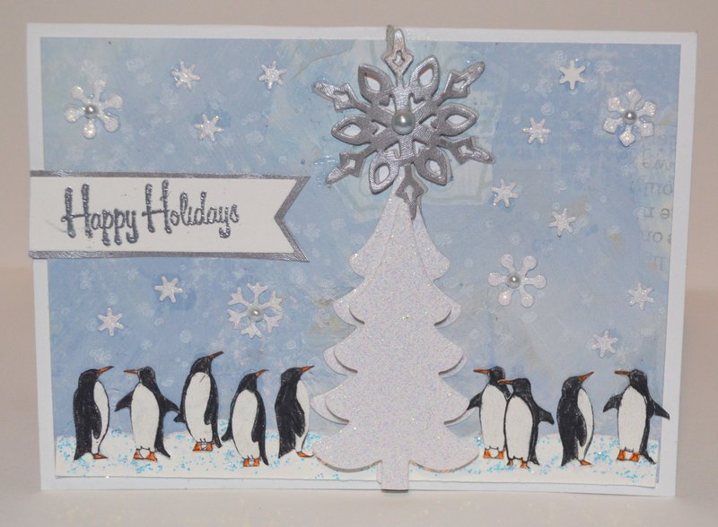 Penguin Holiday Party Card