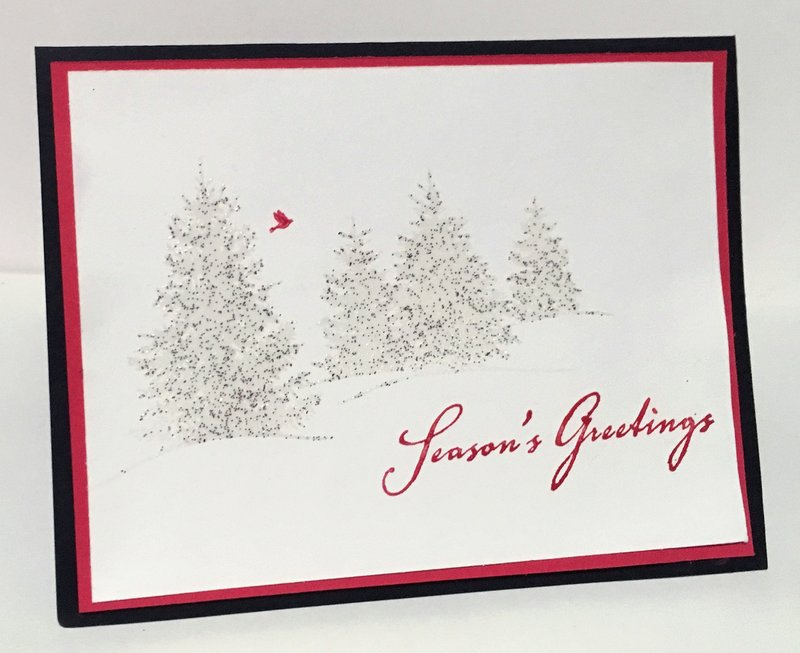 Sparkling Evergreens Card