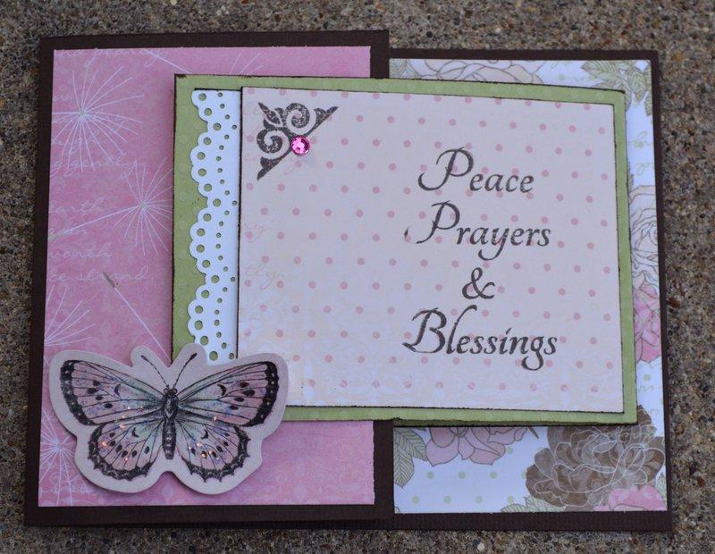 Front of Bo Bunny Primrose Sympathy Card