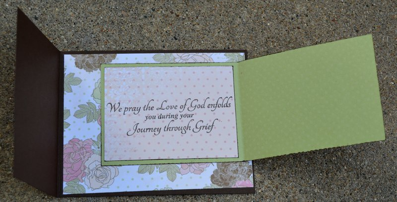 Inside of Bo Bunny Primrose Sympathy Card