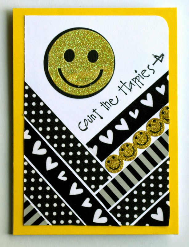 Count the Happies with Black, White and Yellow Washi