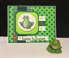 Frog Halloween Card