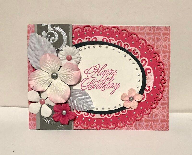 Pink Ovals HB Card