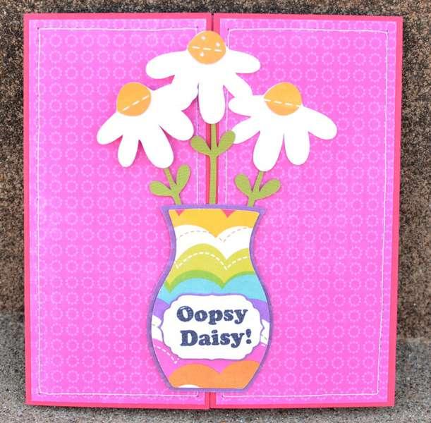 oopsy daisy gate fold card