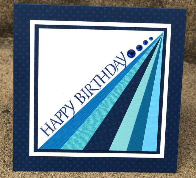 Happy Birthday prism card