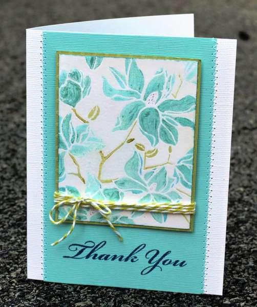 Thank you smooch card