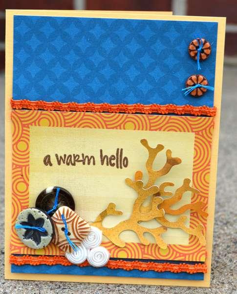 a warm hello card