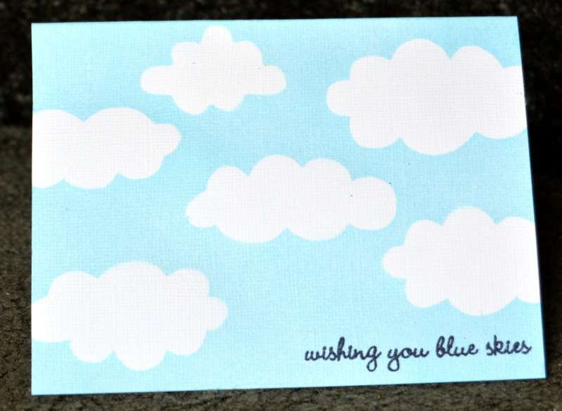 blue skies card