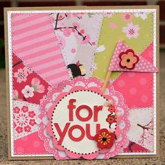 for you pieced card