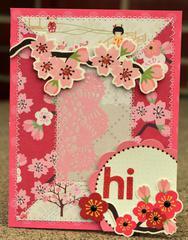 Hi Cherry blossom card