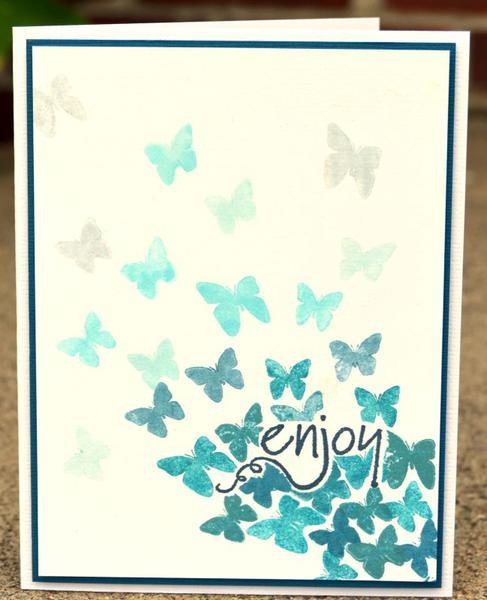enjoy ombre card