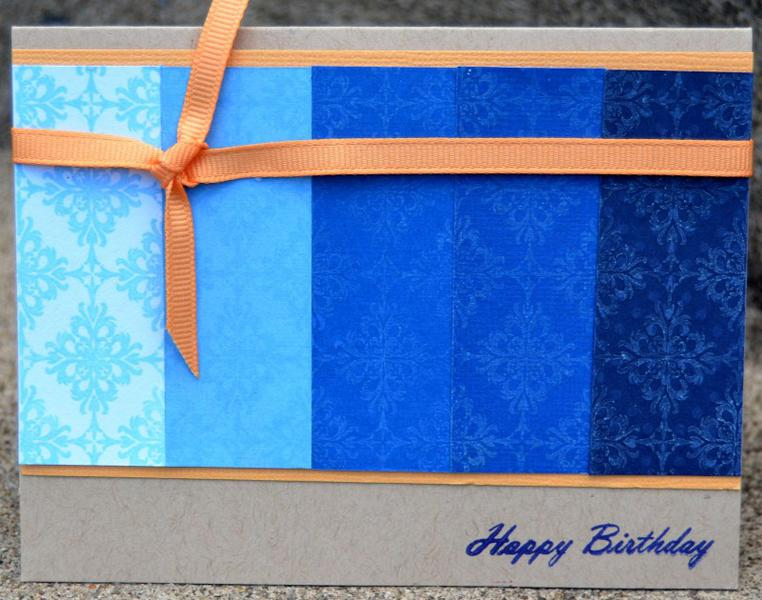 ombre birthday card