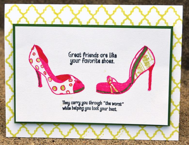 shoes friend card