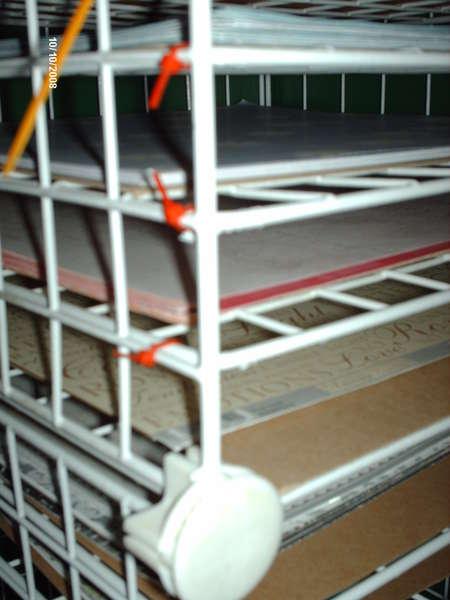 Closeup of Paper Storage