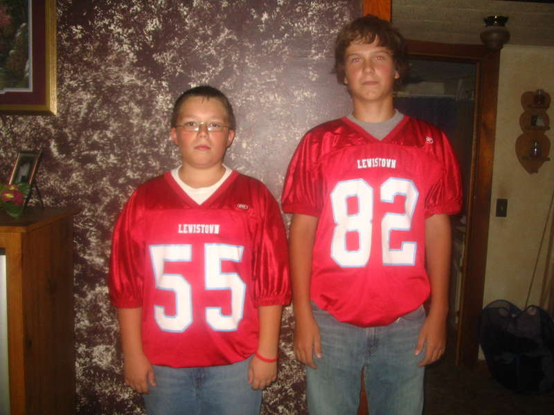 Isaac and one if his teammates (Isaac is # 55(