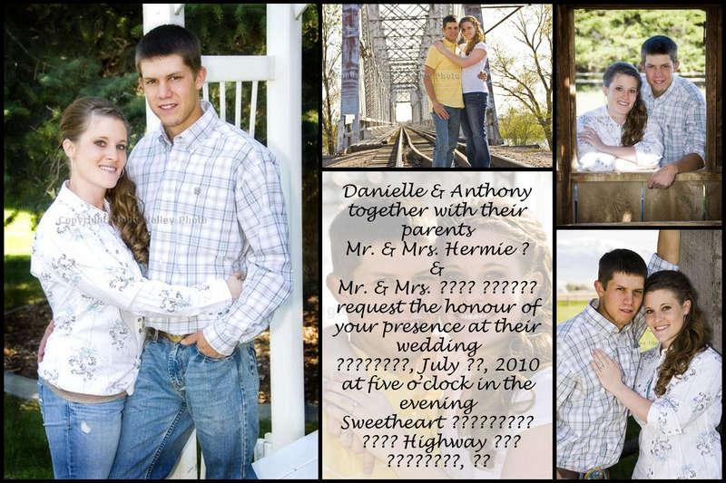 Wedding invitation 1 ~ 4x6