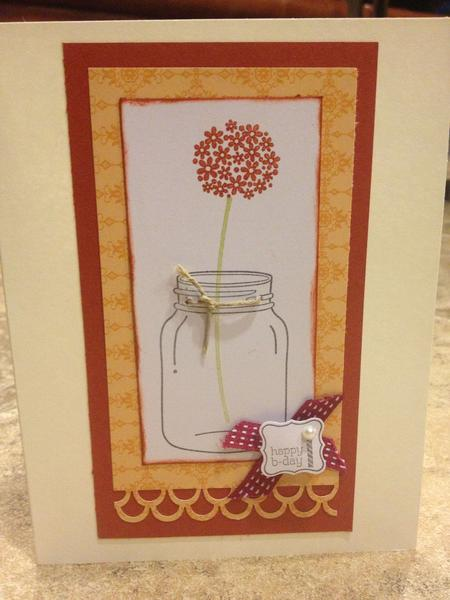 Flower in a jar b-day card