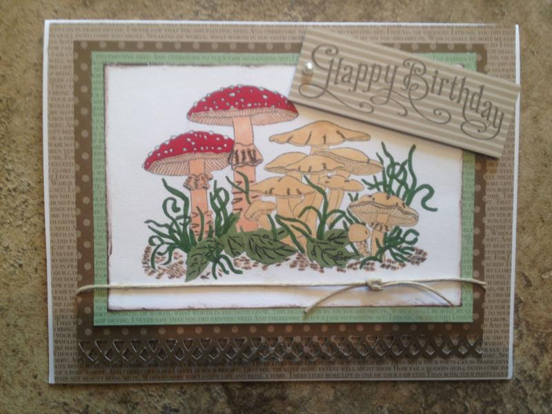 Mushroom Birthday Card