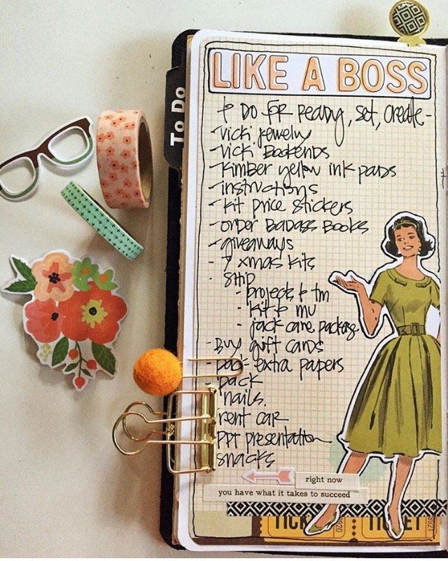 To Do in my Travelers Notebook