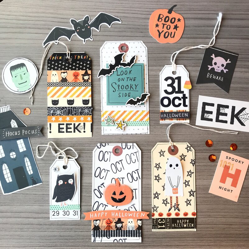Hey Pumpkin Halloween Tags