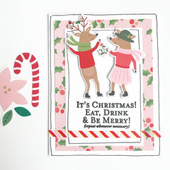 Christmas Fun Cards Sentiments Stamps