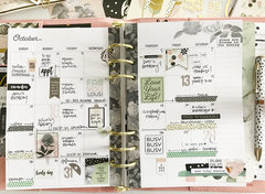 October in my Carpe Diem Planner
