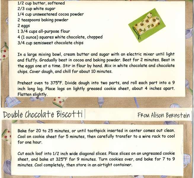 Double Chocoalte Biscotti