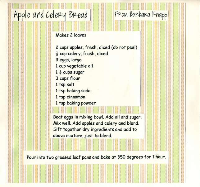 Apple and Celery Bread