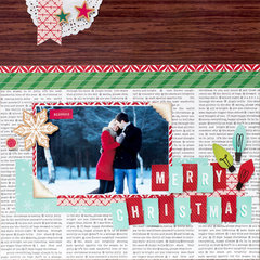Merry Christmas Inspiration featuring Christmas Magic from Shimelle for American Crafts