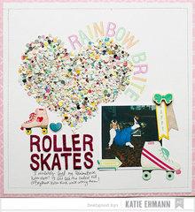 Roller Skates Layout by Katie Ehmann