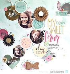 Sweet Layout by Heather Leopard