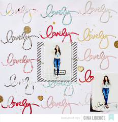 Lovely Layout by Gina Lideros