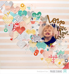 Love Love Love Love by Paige Evans featuring Stitched from Amy Tangerine for American Crafts